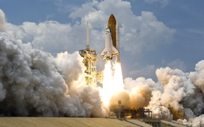 Picture space, USA, Shuttle, NASA, the rise, NASA, Space shuttle