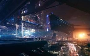 Picture the city, fiction, art, ship