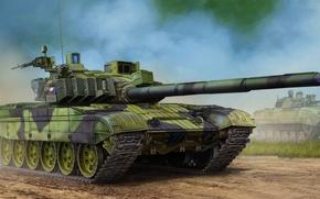 Wallpaper war, art, painting, tank, Czech T-72M4CZ MBT