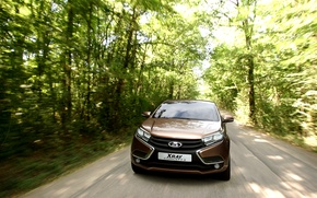 Picture road, speed, the concept, car, Lada, Lada, crossover, X-ray, Rengen