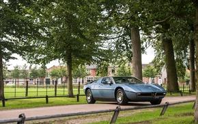 Picture Maserati, Retro, Tuning, Car, Italdesign, 1971-78, Bora Worldwide, (AM117)