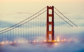 Picture lights, fog, San Francisco