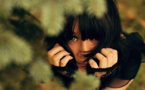 Picture Girl, Brunette, Green-eyed