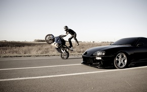 Wallpaper Motorcycle, Toyota, Stuntman, Road