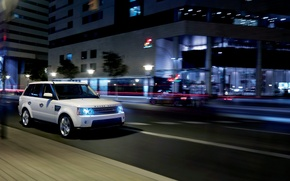 Picture night, Wallpaper, range rover