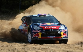 Picture Auto, Dust, Wheel, Speed, Race, Skid, Drift, Citroen, DS3, WRC, Rally