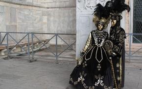 Picture carnival, mask, Venice, costumes, masquerade