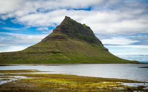 Picture nature, mountain, Iceland, Kirkjufell