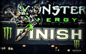 Picture jump, Monster Energy, energy, Motocross, mottsikl, racer.