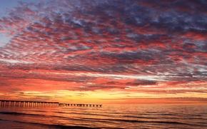 Picture sea, beach, dawn, morning, pierce, dawn