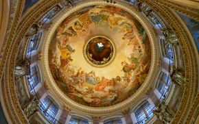 Picture gold, Windows, dove, interior, pictures, St. Isaac's Cathedral, statues, painting