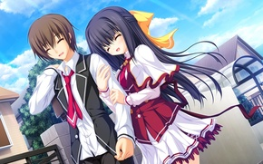 Picture mood, anime, art, girl, guy, a couple, date, lunaris filia