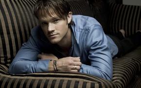 Wallpaper actor, male, guy, Winchester, brunette, supernatural, Sam, supernatural, over the padalecki jared, Jared padalecki, sam ...