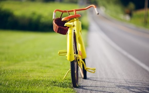 Picture yellow, bike, vintage