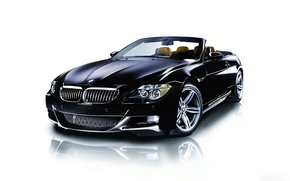 Picture 2006, BMW, BMW, white background, black, Convertible, 6-he, 6 series, M Sport