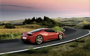 Wallpaper Ferrari, landscape, track