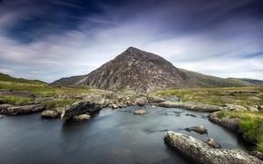 Picture landscape, river, mountain