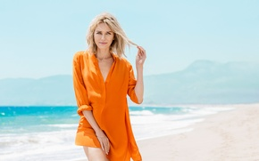 Wallpaper sand, sea, the sun, advertising, actress, hairstyle, blonde, photographer, photoshoot, Naomi Watts, brand, Naomi Watts, ...