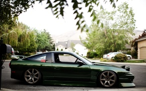 Picture green, nissan, drives, Nissan, 180sx
