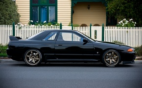 Picture Japan, Nissan, Wallpaper, Black, Nissan, GT-R, Drift, R32, Coupe, Skyline, Coupe, Skyline, JDM, GT-Er