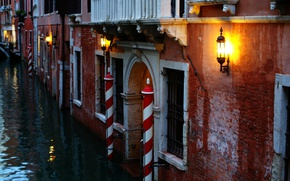 Picture The evening, Channel, Lights, Italy, Venice, Building, Italy, Venice, Evening, Italia, Venice, Canal