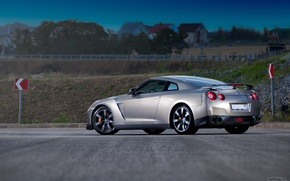 Picture grey, supercar, R35, Nissan GT-R