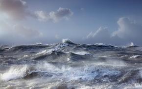 Picture sea, wave, the sky, landscape