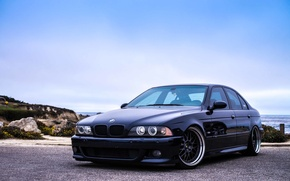 Picture the sky, mountains, blue, bmw, BMW, blue, e39