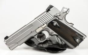 Picture gun, weapons, background, sig sauer