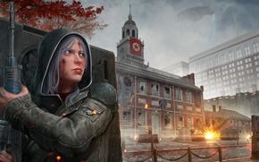 Wallpaper war, girl, art, revolution, Homefront: The Revolution, the city, independence