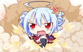 Picture character, mood, anime, art, girl, Chibi, lunaris filia