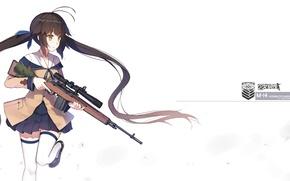 Picture girl, weapons, anime, art, form, schoolgirl, yuri shoutu