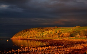 Picture Strait, coast, morning, Scotland, Scotland, Cromarty, Cromarty, Cromarty Firth