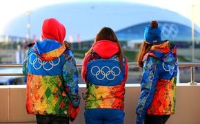 Picture people, clothing, Olympics, symbols, Sochi 2014, volunteers