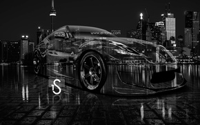 Picture Night, The city, Nissan, City, Nissan, Photoshop, Photoshop, design, Black, Night, White, 370Z, JDM, Crystal, …