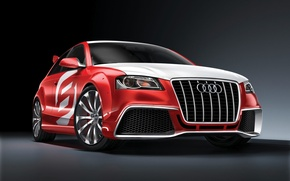 Wallpaper red, Audi A3