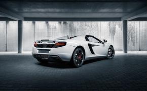 Picture McLaren, British, MP4-12C, White, Back, Supercar