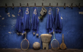 Picture sport, the ball, locker room, racket