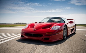 Picture car, Ferrari, red, supercar, beautiful, nice, F50