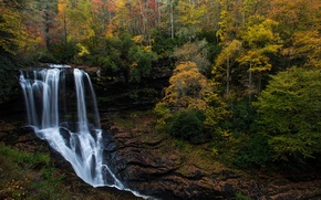 Picture autumn, forest, waterfall