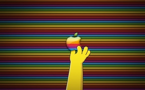 Picture Apple, logo, Simpsons