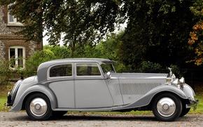 Picture car, machine, auto, machine, retro, grey, silver, Phantom, grey, silver, vintage, retro, vintage, classic, Royce, …