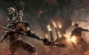 Picture Sunset, Smoke, Fire, Weapons, Flame, Mad Max, Warner Bros. Interactive Entertainment, Mad Max, Avalanche Studios