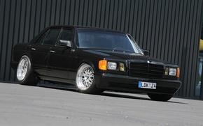 Picture black, mercedes-benz, S-Class, w126, 500SE
