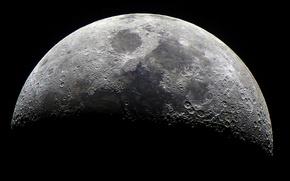 Wallpaper the moon, Moon, surface, satellite