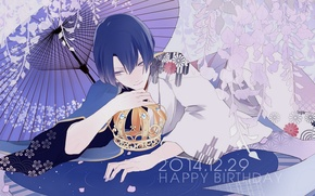 Picture umbrella, anime, art, guy, Uta no Prince-sama