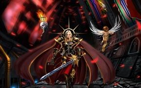 Picture sword, temple, cloak, warhammer, bolter, armor, 40k, 40 000, varhamer, servitor, Adeptus sororitas, sisters of ...