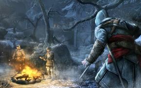 Wallpaper snow, blade, Assassin's Creed, Revelations, Ezio, guards