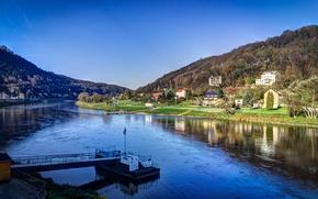 Picture Germany, Elba, Saxon Switzerland, Königstein