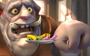 Picture cinema, game, Sony, green eyes, cartoon, movie, tattoo, spoon, film, children, drawing, powerful, strong, sugoi, …